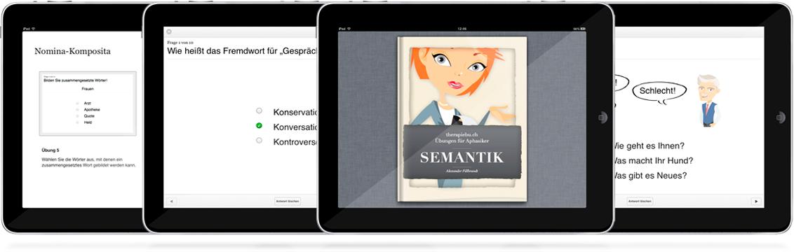 Aphasie-Übungsbuch Semantik aus der Reihe Therapiebuch