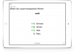 Therapiebuch Semantik Aufgaben Komposita farbe