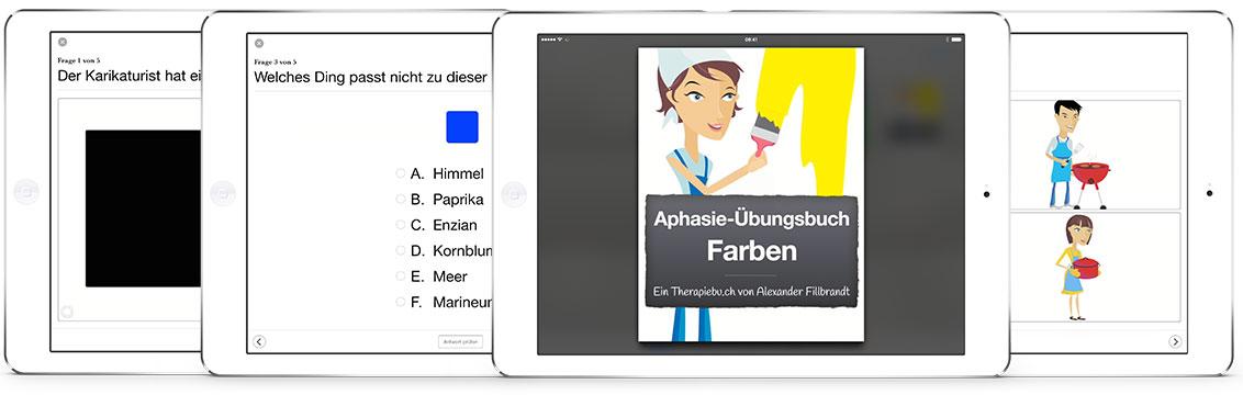 Therapiebücher - Aphasie-Übungsbuch Farben   Therapiebuch.info