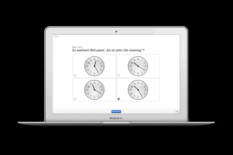 Uhrzeiten-Übung-Auswahl
